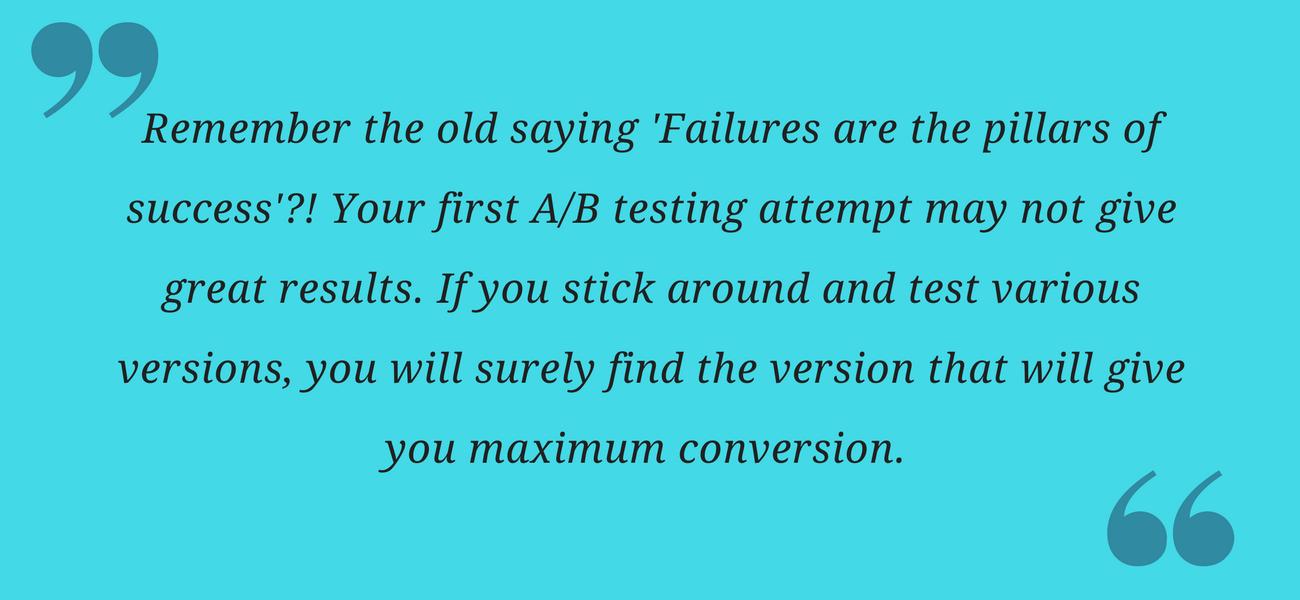 AB testing-takeaway, A/B testing ux research