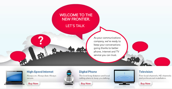 frontier landing page, landing page design cost